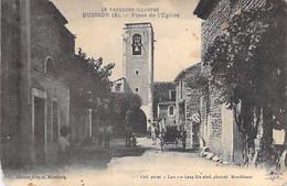 84 - BUISSON : Place De L'Eglise - CPA Village ( 295 Habitants) - Vaucluse - Autres Communes
