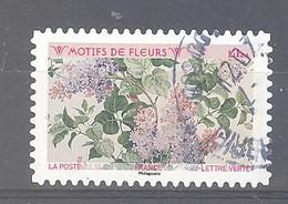 France Autoadhésif Oblitéré (Motifs De Fleurs : Lilas) (cachet Rond) - Oblitérés