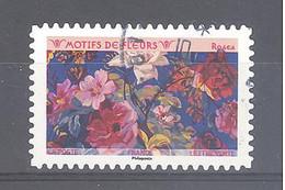 France Autoadhésif Oblitéré (Motifs De Fleurs : Roses) (cachet Rond) - Oblitérés