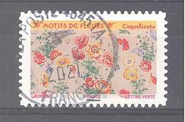 France Autoadhésif Oblitéré (Motifs De Fleurs : Coquelicots) (cachet Rond) - Oblitérés