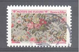 France Autoadhésif Oblitéré (Motifs De Fleurs : Roses Et Lilas) (cachet Rond) - Oblitérés