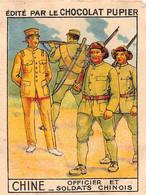 PIE-FO-21-3511 : EDITION DU CHOCOLAT PUPIER. CHINE. OFFICIER ET SOLDATS CHINOIS - China