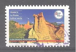 France Autoadhésif Oblitéré (France Terre De Tourisme : Colorado Provençal) (cachet Rond) - Oblitérés
