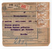 1919. KINGDOM OF SHS,LJUBLJANA TO KOROŠKO,PARCEL CARD,CHAIN BREAKERS,VERIGARI - Storia Postale