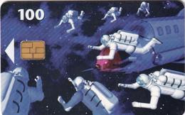 DENMARK(chip) - Space Men, Chip 1, CN : 6202, Tirage 11000, Exp.date 31/12/97, Used - Spazio