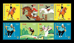 United Nations (Vienna) 2021 Mih. 1106/11 Sport For Peace. Olympic Games In Tokyo. Horseback Riding. Golf MNH ** - Ungebraucht