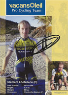 CARTE CYCLISME CLEMENT LHOTELLERIE SIGNEE TEAM VACANSOLEIL 2009 - Cyclisme