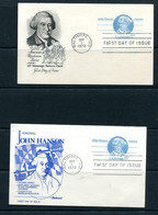USA 1972  2 PS Cards With Reply Cards John Hanson Patriot 11513 - 1961-80