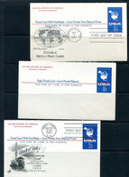 USA 1967 3 PS Cards With Reply Cards First Day Issue 11514 - 1961-80