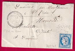 N°60 GC 3789 ST PAL DE MONS CAD TYPE 24 INDICE 17 HAUTE LOIRE POUR DUNIERES - 1849-1876: Periodo Clásico