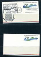 USA 1967 2 Postal Stationary Cards Virgin Island And Territorial Flag 11516 - 1961-80