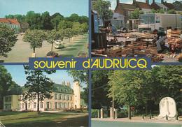 62 Audruicq Vues Place General De Gaulle Marché Aux Fruits Monument Aux Morts Chateau Voiture Auto Citroen GS - Audruicq