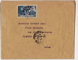 FRANCE   BEAUNE 4FR N° 583 SEUL LETTRESUR ENVELOPPE H THIAUDE ADRESSE A  VALENCE 1944 - 1921-1960: Periodo Moderno