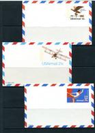 USA 1974/9 3 Postal Stationary Cards 18c & 21c 11520 - 1961-80