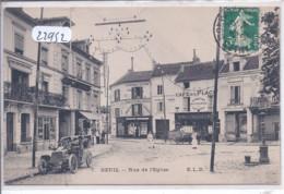 DEUIL- RUE DE L EGLISE- LE CAFE DE LA PLACE- ELD 7 - Deuil La Barre
