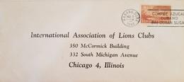 O) 1948 CUBA, CARIBBEAN, PLANE OVER COAST, INTERNATIONAL ASSOCIATION OF LIONS CLUBS, BUY CUBAN SUGAR, CIRCULATED TO USA - Covers & Documents