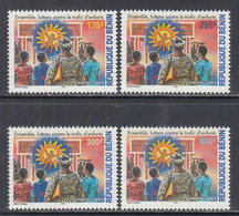 2004 Benin Fight Against Child Trafficking Complete Set Of 4 MNH  **Who Has These??** - Benin – Dahomey (1960-...)