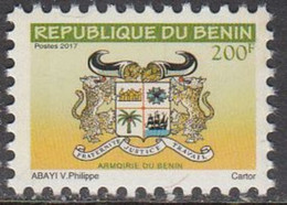 2017 Benin 200F Armoirie Definitive Coat Of Arms Leopards  Complete Set Of 1 MNH - Benin – Dahomey (1960-...)
