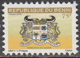 2008 Benin 75F Armoirie Definitive Coat Of Arms Leopards  Complete Set Of 1 MNH - Benin – Dahomey (1960-...)
