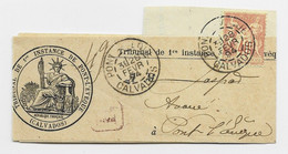 FRANCE SAGE 40C PETITE BANDE COMPLETE TYPE A PONT L'EVEQUE 28 FEVR 1894 CALVADOS - 1877-1920: Semi-Moderne
