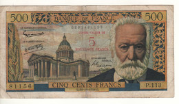 FRANCE   5 Nouveaux  Francs   P137a  Dated 30.10.1958  Victor Hugo + Pantheon In Paris - 5 NF 1959-1965 ''Victor Hugo''
