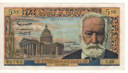 FRANCE   5 Nouveaux  Francs   P141a  Dated 4.2.1985  Victor Hugo + Pantheon In Paris   High Grade XF - 5 NF 1959-1965 ''Victor Hugo''