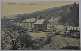 CPA Trois-Ponts - Vue Prise Du Pont Du Chemin De Fer - Trois-Ponts