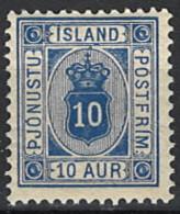 Iceland Island 1896/1898. Mi.Nr. 5 B, Perf 12 3/4, * MH - Dienstpost