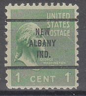 USA Precancel Vorausentwertungen Preos, Bureau Indiana, New Albany 804-63 - Precancels