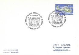 """Avion Cachet Temporaire Illustré -14 Ver-sur-Mer 1er Juillet 1977 """" 50e Anniversaire Amerrissage De Byrd - Aerei"""