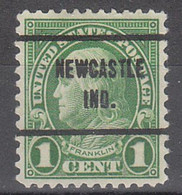 USA Precancel Vorausentwertungen Preos, Locals Indiana, Newcastle 635-257 - Precancels