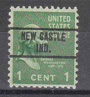 USA Precancel Vorausentwertungen Preos, Locals Indiana, New Castle 263 - Precancels