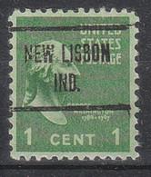 USA Precancel Vorausentwertungen Preos, Locals Indiana, New Lisbon 723 - Vorausentwertungen