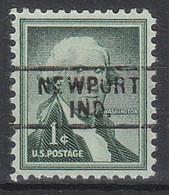 USA Precancel Vorausentwertungen Preos, Locals Indiana, Newport 729 - Vorausentwertungen