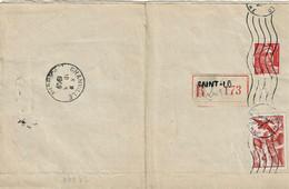 TP N°  813 Et PA 17 Sur Convocation En Recommandé De La Ville De Cherbourg - 1921-1960: Modern Period