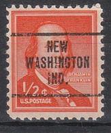 USA Precancel Vorausentwertungen Preos, Locals Indiana, New Washington 707 - Precancels