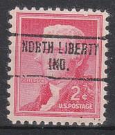 USA Precancel Vorausentwertungen Preos, Locals Indiana, North Liberty 734 - Precancels