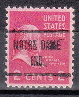 USA Precancel Vorausentwertungen Preos, Locals Indiana, Nortre Dame 723 - Precancels