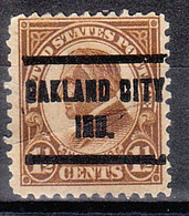 USA Precancel Vorausentwertungen Preos, Locals Indiana, Oakland City 633-205, Center Kink - Precancels