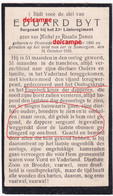 Oorlog GUERRE Eduard Byt Oostende Soldaat 23 Linie Gesneuveld Te Zomergem 31 Okt 1918 Britsh Military Cross  Oorlogkruis - Images Religieuses