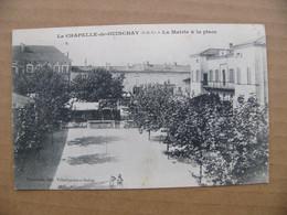 Cpa LA CHAPELLE DE GUINCHAY La Mairie Et La Place  71 Saône Et Loire - Other Municipalities