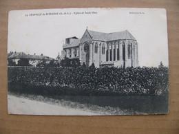 Cpa LA CHAPELLE DE GUINCHAY Eglise Et école Libre 71 Saône Et Loire - Other Municipalities