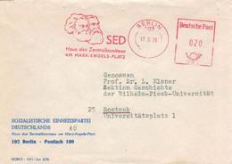 SED Haus Des Zentralkomitees Am Marx-Engels-Platz - Berlin 1978 > Prof. Lothar Elsner [1992 Zwangsweise Vorruhestand] - Poststempel - Freistempel