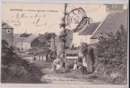 BANTEUX (Nord) - Travaux Agricoles La Batteuse Battage Du Blé Matériel Agricole - Autres Communes
