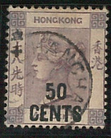 60766 -  HONG  KONG - STAMPS:  SG # 49  Used - VERY FINE!! Shanghai Posrmark - Used Stamps