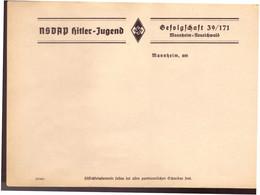 DT- Reich (022327) Schreibblatt NSDAP Hitler Jugend, Gefolgschaft 39/ 171, Mannheim Neueichwald, Ungebraucht - Briefe U. Dokumente