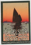 LABEL HOTEL- VENISE - HÔTEL EXCELSIOR - Hotel Labels