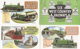 Axminster Lyme Regis Lynton & Barnstaple Map 6x Postcard Set - Non Classificati