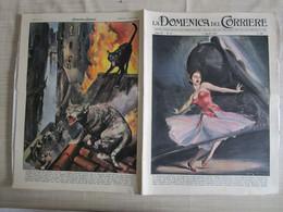 # DOMENICA DEL CORRIERE N 14 -1957 TRAGEDIA DI BALLERINA A GRECO MILANO / INCENDIO A VENEZIA - Prime Edizioni