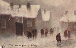 """""""Prof Van Hier. Wonderful White Winter"""" Tuck Oilette Connoisaseur  Ser. PC # 2576 - Tuck, Raphael"""